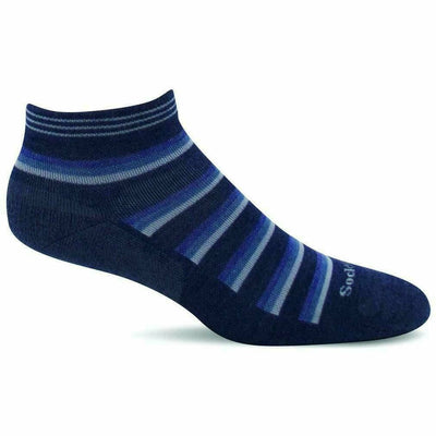 Sockwell Womens Sport Ease Bunion Relief Quarter Socks - Small/Medium / Denim