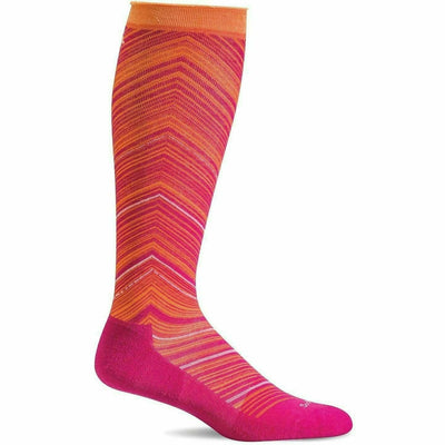 Sockwell Womens Full Flattery Moderate Compression Knee High Socks Small/Medium / Azalea