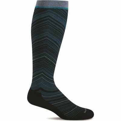 Sockwell Womens Full Flattery Moderate Compression Knee High Socks Small/Medium / Navy