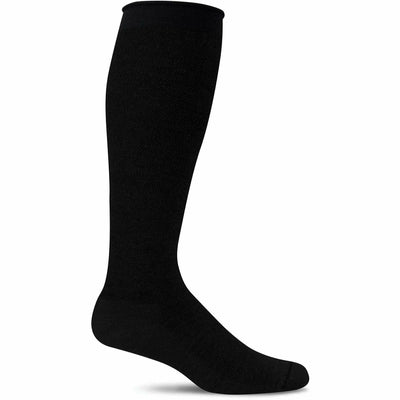 Sockwell Womens Full Floral Moderate Compression Knee High Socks - Small/Medium / Black Solid