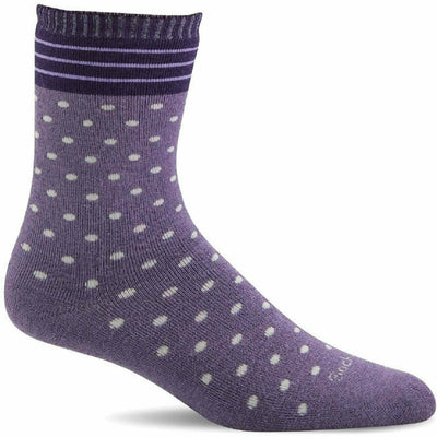 Sockwell Womens Plush Relaxed Fit Crew Socks Small/Medium / Plum