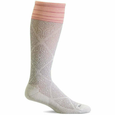 Sockwell Womens The Raj Firm Compression Knee High Socks - Small/Medium / Natural
