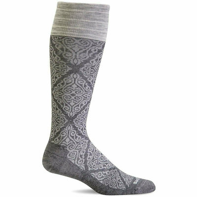 Sockwell Womens The Raj Firm Compression Knee High Socks - Small/Medium / Charcoal