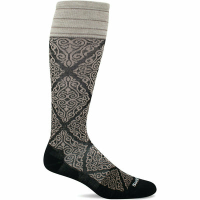 Sockwell Womens The Raj Firm Compression Knee High Socks - Small/Medium / Black