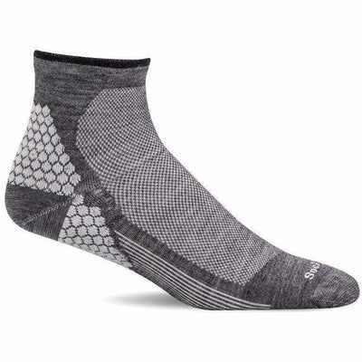 Sockwell Mens Plantar Sport Firm Compression Quarter Socks - Medium/Large / Charcoal