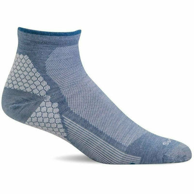 Sockwell Womens Plantar Sport Firm Compression Quarter Socks Small/Medium / Bluestone