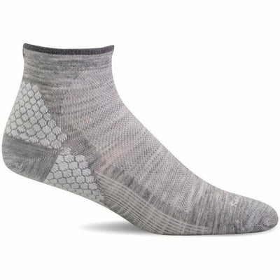 Sockwell Womens Plantar Sport Firm Compression Quarter Socks Small/Medium / Grey
