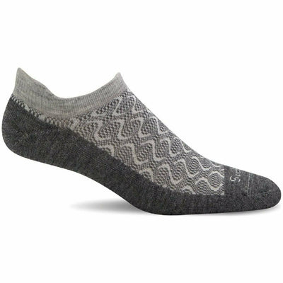 Sockwell Womens Softie Relaxed Fit Micro Socks - Small/Medium / Charcoal