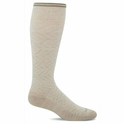 Sockwell Womens Chevron Moderate Compression Knee-High Socks - Small/Medium / Barley Sparkle