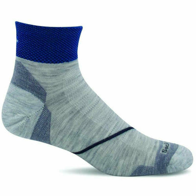Sockwell Mens Pulse Firm Compression Quarter Socks Medium/Large / Ash