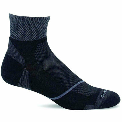 Sockwell Mens Pulse Firm Compression Quarter Socks Medium/Large / Black