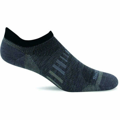Sockwell Mens Ascend II Moderate Compression Micro Socks Medium/Large / Grey