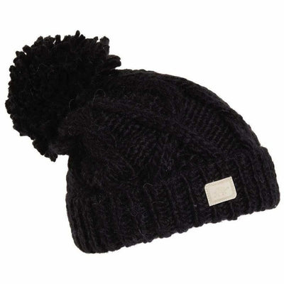 Turtle Fur Sugar Bowl Hand Knit Beanie - One Size Fits Most / Black