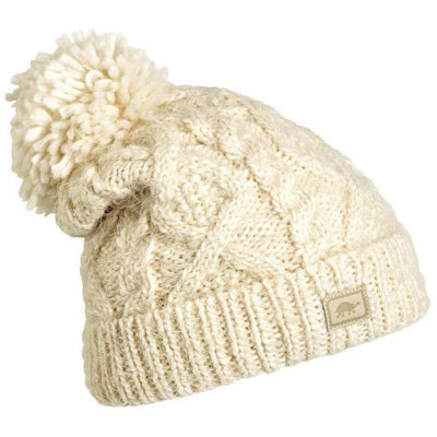 Turtle Fur Sugar Bowl Hand Knit Beanie - One Size Fits Most / White