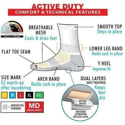 Drymax Active Duty Crew Socks