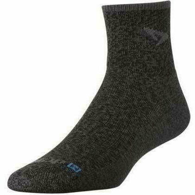 Drymax Trail Running 1/4 Crew/Turndown Socks - Small / Graphite Heathered