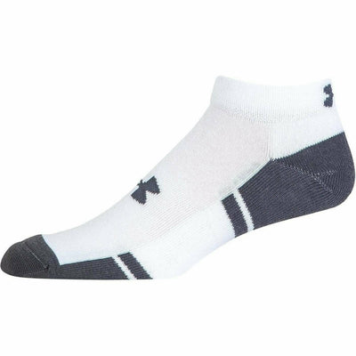 Under Armour Resistor 3 Lo-Cut Socks - Youth Large / White/Graphite