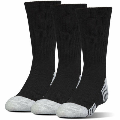 Under Armour HeatGear Tech Crew Socks - Youth Medium / Black