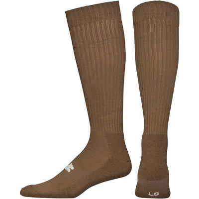 Under Armour Tactical HeatGear OTC Socks - Medium / Coyote Brown