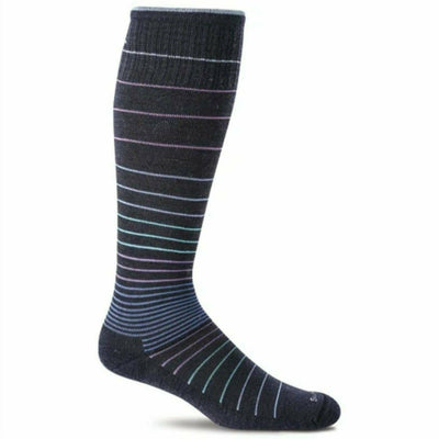 Sockwell Womens Circulator Moderate Compression Knee High Socks Small/Medium / Navy