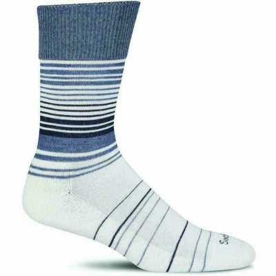 Sockwell Womens Easy Does It Relaxed Fit Crew Socks - Small/Medium / Denim