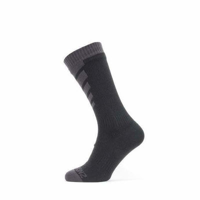 Sealskinz Waterproof Warm Weather Mid Socks - Small / Black/Grey