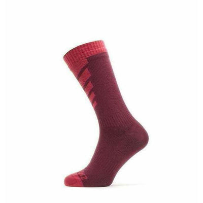 Sealskinz Waterproof Warm Weather Mid Socks - Small / Red