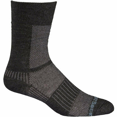 Wrightsock Double-Layer Coolmesh II Lightweight Crew Socks - Small / Black Marl / Single Pair