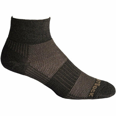Wrightsock Merino Coolmesh II Quarter Socks Small / Timber