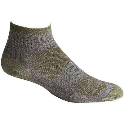 Wrightsock Escape Midweight Quarter Socks - Small / Trail Green
