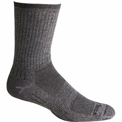 Wrightsock Escape Midweight Crew Socks - Small / Granite