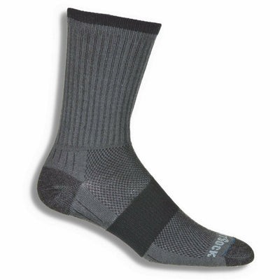 Wrightsock Escape Midweight Crew Socks - Small / Ash