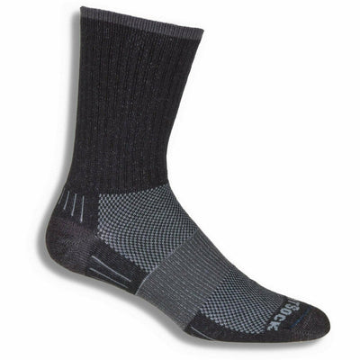 Wrightsock Escape Midweight Crew Socks - Small / Black