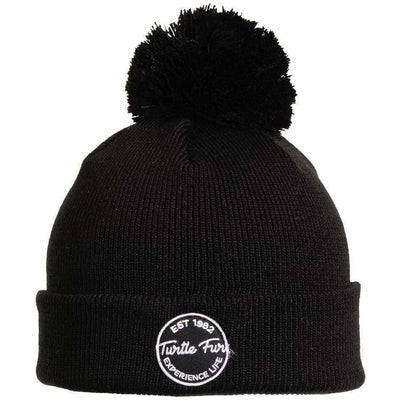 Turtle Fur Winds of Change Pom Beanie - One Size Fits Most / Black