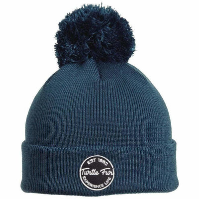 Turtle Fur Winds of Change Pom Beanie - One Size Fits Most / Blue