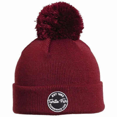 Turtle Fur Winds of Change Pom Beanie - One Size Fits Most / Wine