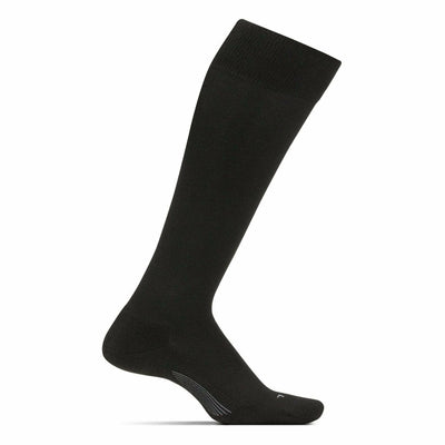 Feetures Everyday Womens Cushion Knee High Crew Socks - Small / Black