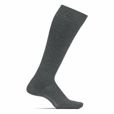 Feetures Everyday Womens Cushion Knee High Crew Socks - Small / Gray