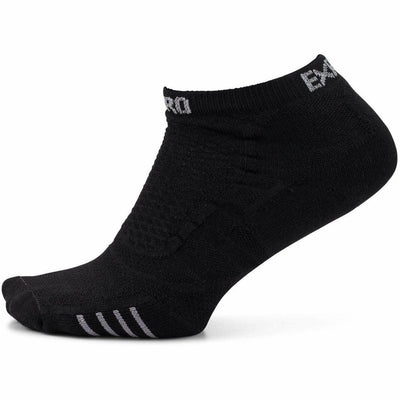 Thorlo Experia ProLite No-Show Tab Socks X-Small / Black on Black
