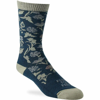Farm to Feet Womens York Crew Socks Small / Denim
