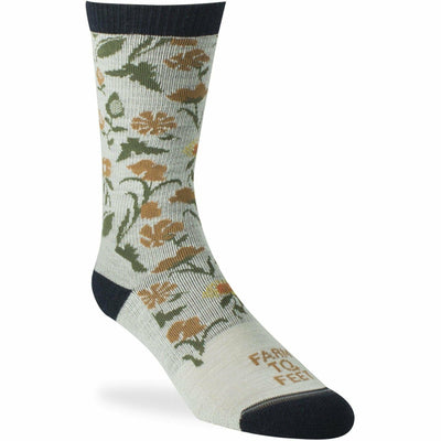 Farm to Feet Womens York Crew Socks Small / Natural