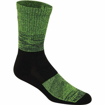 ASICS Fuzex Graffiti Cushion Crew Socks - Small / Black/Green Gecko