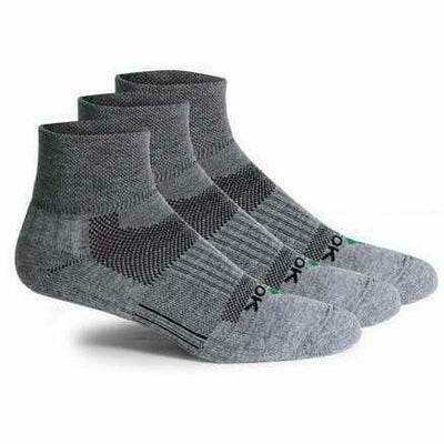 Fitsok CF2 Quarter Cushion Socks - Medium / Gunmetal