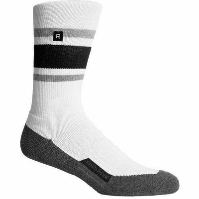Richer Poorer Mens Charter Crew Socks - One Size Fits Most / Charcoal/White