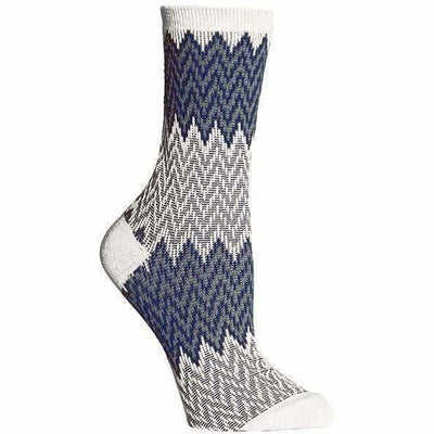 Richer Poorer Womens Current Crew Socks - One Size Fits Most / White/Charcoal