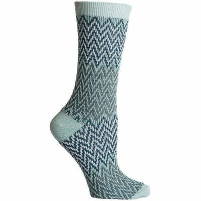 Richer Poorer Womens Current Crew Socks - One Size Fits Most / Blue/Yellow