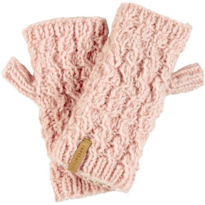 Turtle Fur Mika Wool Fingerless Mittens One Size Fits Most / Antique Pink