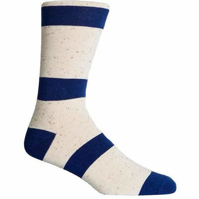 Richer Poorer Mens London Crew Socks - One Size Fits Most / Navy