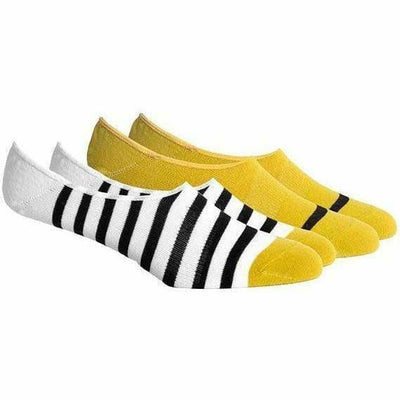 Richer Poorer Mens Theo No Show Socks - One Size Fits Most / Black/Yellow