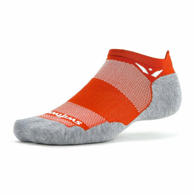 Swiftwick Maxus Zero No Show Tab Socks - Small / Sedona Orange